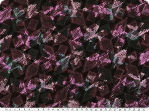 Jersey with jacquard structure, black-turquoise-violet, 150c