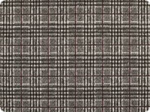 Knit stretch fabric, checks, grey-white-red, 145cm