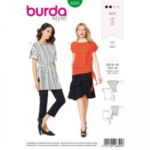 Burda pattern, Blouse shirt, size: 34-44