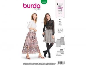 Burda pattern, A-Line Skirt, size: 36-46