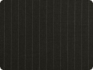 Virgin wool fabric, suiting, pinstriped, black, 160cm