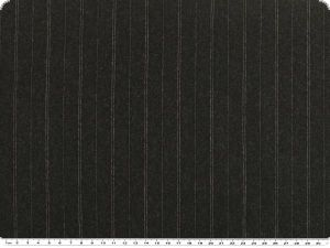 Virgin wool fabric, pinstriped, dark grey, 145cm