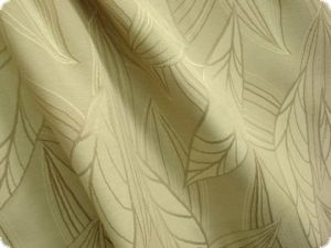 Extra broad woven jacquard fabric, leafs, creme, ca. 280cm