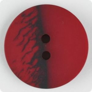 fashion button, twohole, 28mm, red