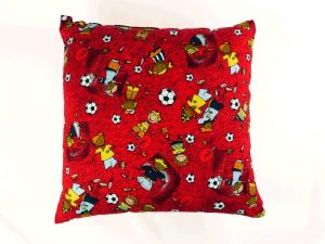 Football pillow, red multicoloured, 40x40cm