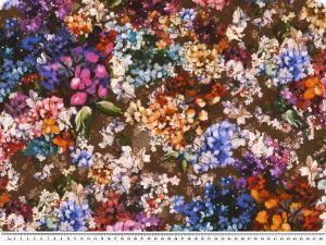 Decoration fabric, Phantasy-flowers, 100% Cotton, 140cm