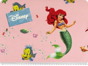 Disney fabric, The little mermaid, rose, 140cm