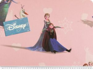 Disney fabric, Frozen, rose, 140cm