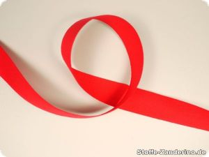 Twill ribbon, 30mm, red