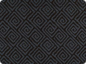 High quality  upholstery fabric, spirals, black-blue, 140cm