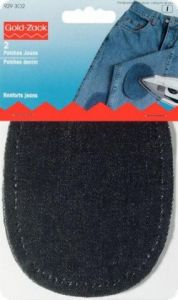 Patches denim, for ironing on, 2pcs., black