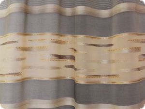 High quality deco fabric, stripes, grey-beige