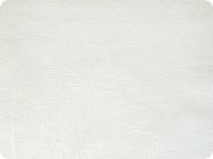 Cotton blended fabric, white, flower structure 145cm