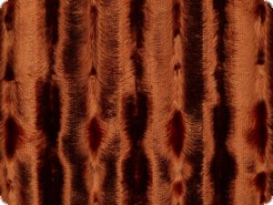 High quality faux fur,  mink imitation, brown-orange, 145cm
