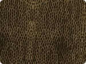 Cotton fabric, fur pattern, brown, 145cm
