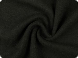 Wool blend, slightly fleecy, black, 135-145cm