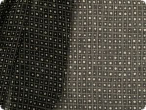 Polyester print,  chiffon-like, dots, anthracite, 142cm