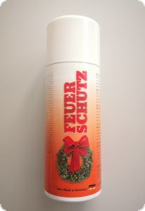 Fire protection spray for floral arrangements, wreaths, b2,