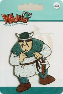 Appliqué Vicky the viking and Faxe, 2 pieces set, to iron on