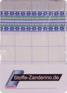 Checked dishcloth with flowers, 50x70cm, 3 pieces