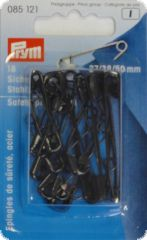 Safety pins with coil, hardened steel, 27+38+50mm, 18pcs.