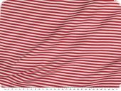 Cotton jersey, tubular fabric, red-white, 70cm
