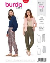 Burda pattern, trousers with elastic band, size 34-44