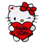Appliqué, Hello Kitty with Heart, ca. 6,5 x 5,5 cm