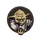 Appliqué, Star Wars Yoda,  Ø 6,5-7 cm, easy to iron on