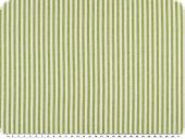 Cotton fabric, stripes, coloured woven, apple-white, 140cm