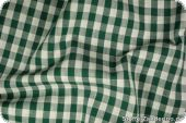 Cotton fabric with checks, ca.1cm, green, 140cm