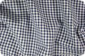 Cotton with small checks, ca. 4mm, navy, 140cm