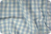 Cotton with checks, ca. 1cm, light blue, 140cm