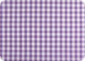 Cotton fabric with checks, ca. 1cm, violet, 140cm