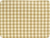 Cotton fabric, checked, brown, 140cm
