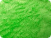 Teddy fabric, even, apple green