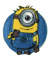 Appliqué,  Minions©, Ø 6 cm, easy to iron on