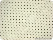 Cotton fabric with small dots, 2mm, white-black, 140cm