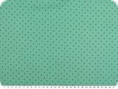 Cotton print with small dots, 2mm, turquoise-petrol, 140cm