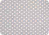 Cotton fabric with dots, light blue, ca. 135cm