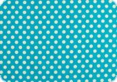 Cotton fabric with dots, turquoise-blue, ca. 135cm