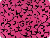 Taffeta flocked with tendrils, pink, 145cm