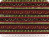 jacquard with stripes and flowers, red-taupe, 145 cm