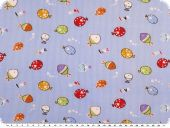 Cotton print for children, fishes, light blue, 150cm