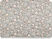 Cotton print for children,  flowers, light grey, 155c