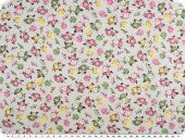 Cotton print for children,  flowers, light grey, 155cm