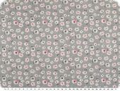 Children fabric, cotton, little flowers, light grey, 160cm
