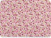 Children fabric, cotton, flowers, rose-red, 160cm