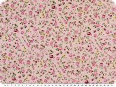 Children fabric, cotton, little flowers, rose pink, 160cm