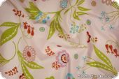 Cotton fabric with floral pattern, light rose, ca. 140cm